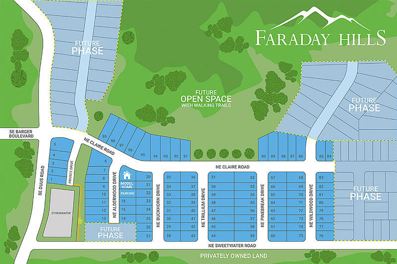 Faraday Hills Plat Map