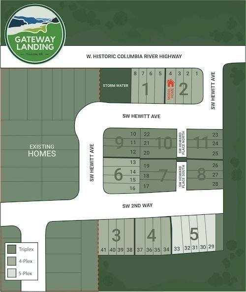 Gateway Landing Plat Map